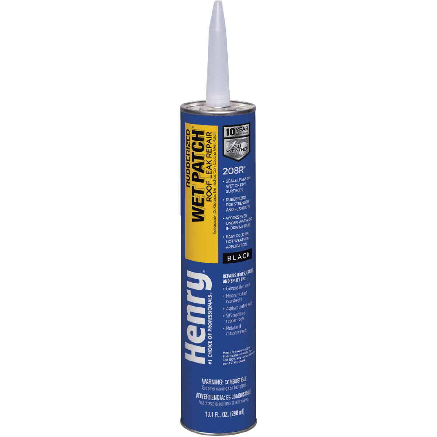 Henry Wet Patch 10.1 Oz. Rubberized Roof Cement and Patching Sealant Image 1