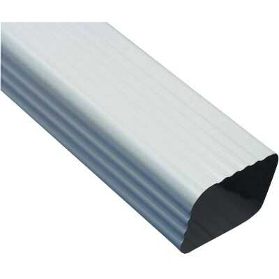 Amerimax 2 In. x 3 In. White Galvanized Downspout
