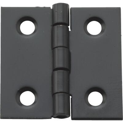 National 1 In. X 1 In. Oil Rubbed Bronze Broad Hinge (4-Pack)