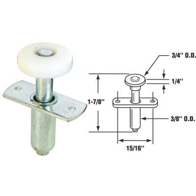 Prime-Line 3/4 In. Self-Adjusting Bifold Door Top Pivot Guide Wheel (2 Count)