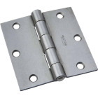 National 3-1/2 In. Square Steel Broad Door Hinge Image 1