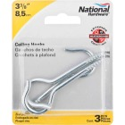 National #4 Zinc Finish Ceiling Hook Image 2