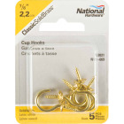 National V2021 7/8 In. Solid Brass Series Cup Hook (5 Count) Image 2