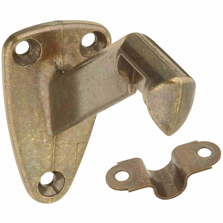 National Antique Brass Zinc Die-Cast With Steel Strap Handrail Bracket Image 1