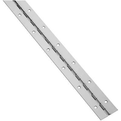 National Steel 1-1/2 In. x 72 In. Nickel Continuous Hinge
