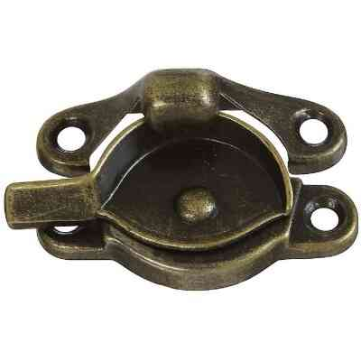 National Antique Brass 7/8 In. Crescent Sash Lock