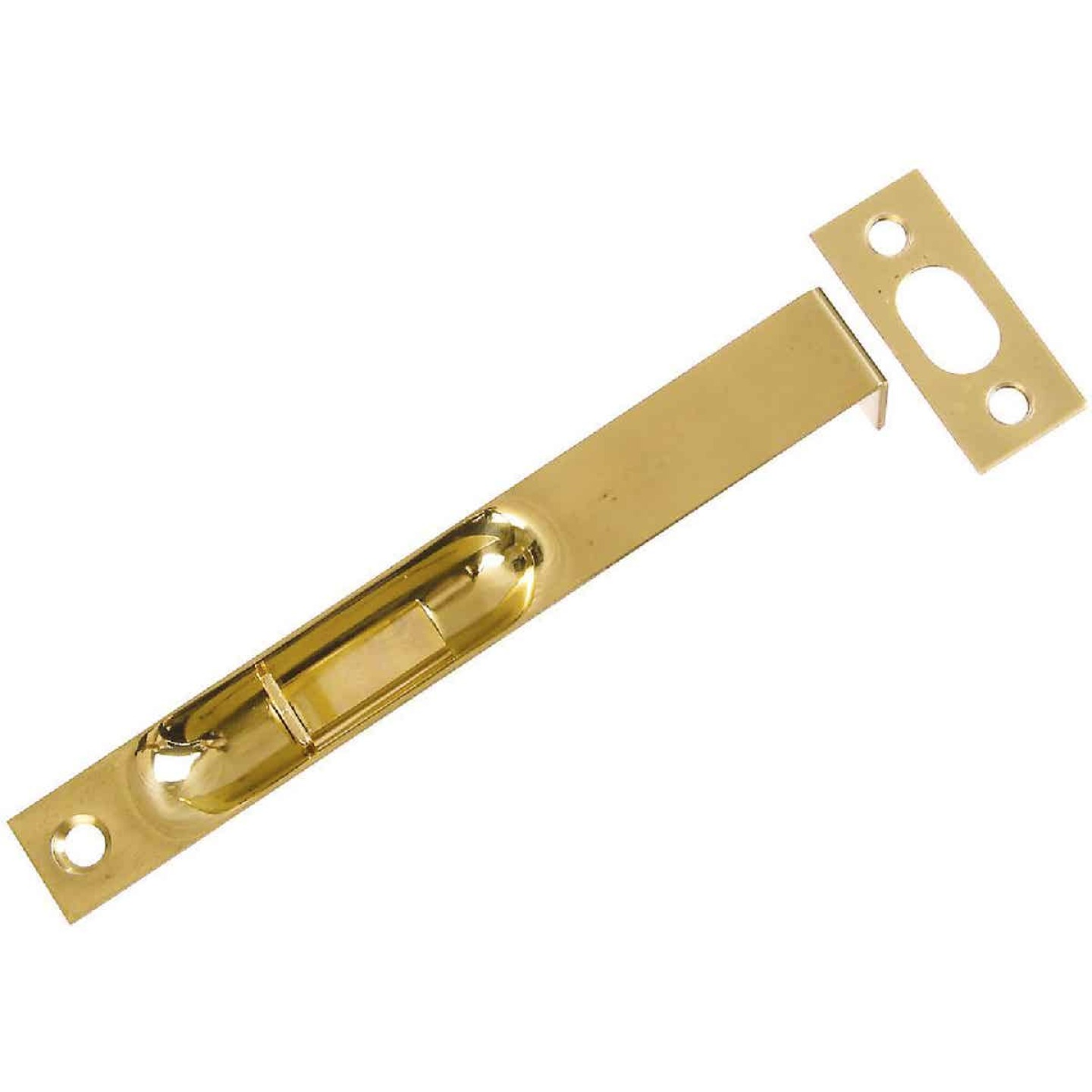 National Door Brass Flush Bolt Image 1
