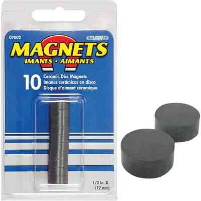 Master Magnetics 1/2 in. Multi-Pole Ceramic Magnetic Disc (10-Pack)