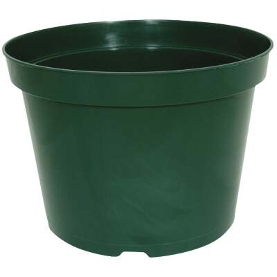 Myers 6 In. H. x 8 In. Dia. Green Plastic Flower Pot
