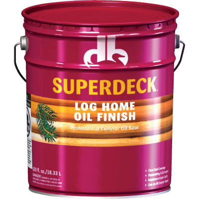 Duckback SUPERDECK VOC Translucent Log Home Oil Finish, Amber Hue, 5 Gal.